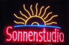 Sonnenstudio LED Leucht reklame Display Werbung