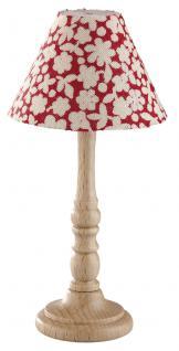 stehlampe holzfu mit buntem stoffschirm f r puppenhaus. Black Bedroom Furniture Sets. Home Design Ideas