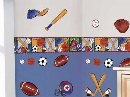 motiv sticker wandtattoo sportwelt f r das kinderzimmer kaufen bei spielgeschenke. Black Bedroom Furniture Sets. Home Design Ideas