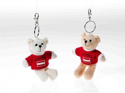 Schlüsselring Bär mit Shirt Austria, 1 Stück, sortierte Ware