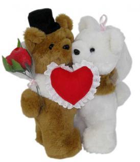 Hochzeitsgeschenk Bärenpaar Hochzeit mit Herz