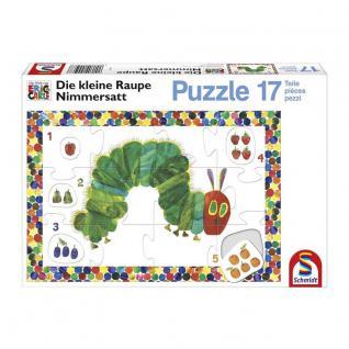 Schmidt Spiele Lernpuzzle Die kleine Raupe Nimmersatt, 17 Teile
