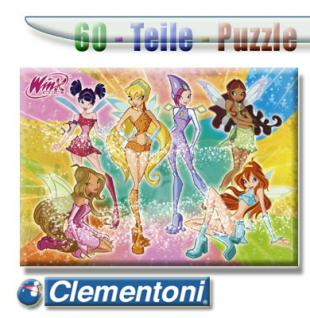 Clementoni Puzzle 60 Winx The Six Faires