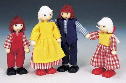 Bino Puppenfamilie, 4 Personen