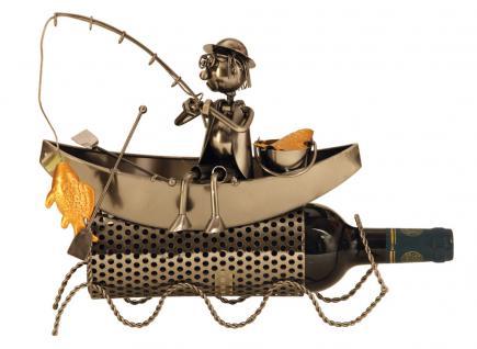 Wein-Flaschenhalter Fischer im Boot