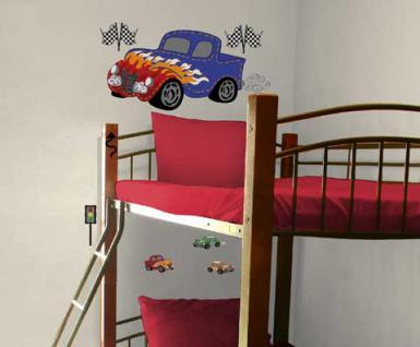 motiv sticker wandtattoo fast fun f r das kinderzimmer kaufen bei spielgeschenke. Black Bedroom Furniture Sets. Home Design Ideas