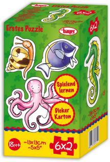 Puzzle 6x2 Teile, Meerestiere