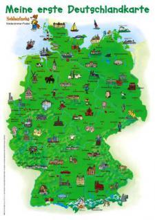 Poster, Schlaufuchs - Meine 1, Deutschlandkarte