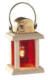 Holzlaterne LED, mit Batterie