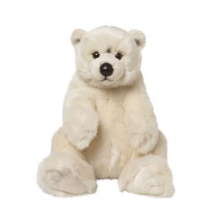Plüschtier WWF Eisbär sitzend, Grösse 32cm