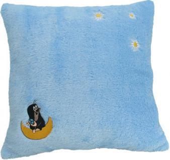 Kissen Maulwurf blau