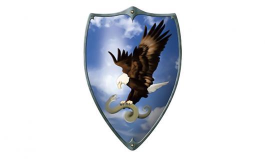 Ritterschild Adler mit Schlange