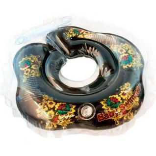 BabySwimmer - Baby Schwimmring für 3-12 kg, schwarz
