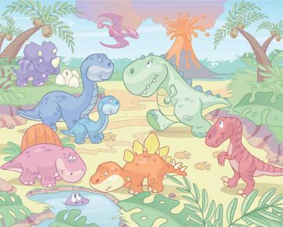 Walltastic Fototapete Baby - Dinosaurier Welt