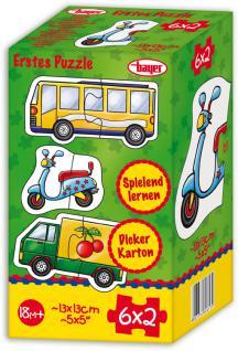 Puzzle 6x2 Teile, Fahrzeuge