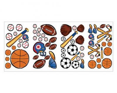 Motiv Sticker, Wandtattoo Sportwelt für das Kinderzimmer