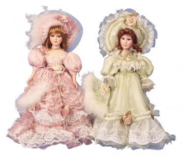 Puppe stehend mit schönen Kleid