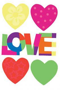 Wandtattoo, Wallies Motiv Cutouts Love Hearts