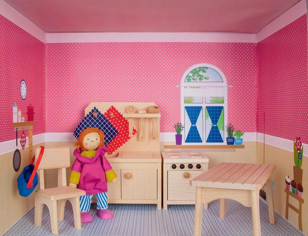 Puppenhaus im Regal Küche Kaufen bei spielgeschenke