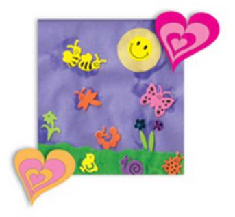 Sticker, Tattoos, Hippy Hearts für Kinder und Junggebliebene