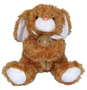 Plüschtier Hase mit Baby, sitzend