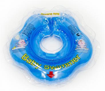 BabySwimmer - Baby Schwimmring für 0-2 Jahre, blau