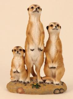 Dekoartikel Erdmännchengruppe, stehend