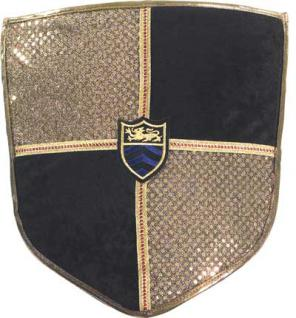 Ritterschild schwarz-gold für Ritter und Könige