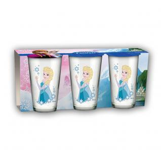 Frozen Gläser, 3er Set Motiv Elsa