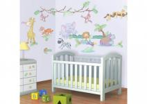 Walltastic Mini Kit Baby Dschungel Safari