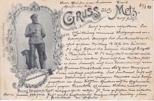 Ansichtskarte Gruss aus Metz, ein altes Original