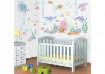 Walltastic Mini Kit Baby Sea Adventure