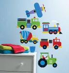 Wallies Sticker (Wall Art), Motiv Flugzeug und Züge