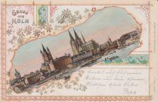 Ansichtskarte Gruss aus Köln, ein altes Original