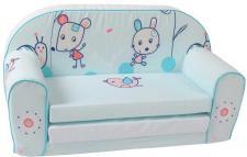 Kindersofa Design Blue Animals