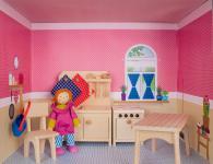 Puppenhaus im Regal, Küche