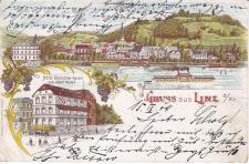 Ansichtskarte Gruss aus Linz, ein altes Original, PLZ 53545