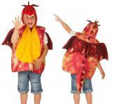 Karneval Kostüm-Weste, Drache rot