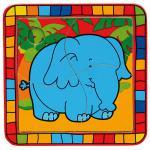 Puzzle, 4 tlg. Elefant