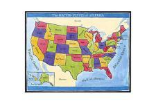 "Wandaufkleber Wallies Gemälde (Mural) "" Map of America"""