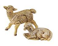 Schaf liegend, für Krippen, Hobby- und Modellbau