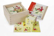 Puzzle in Holzbox, 4 teilig