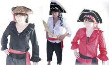Piratenhemd schwarz, für Erwachsene