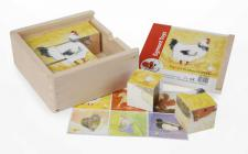 Puzzle in Holzbox, 9 teilig