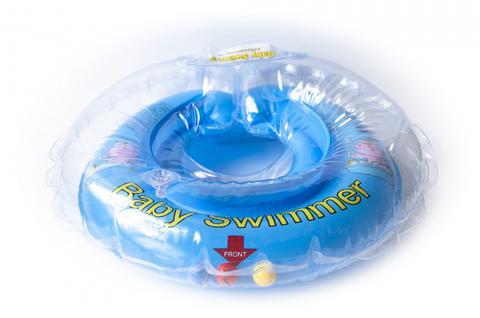 BabySwimmer - Baby Schwimmring für 0-4 Jahre, blau