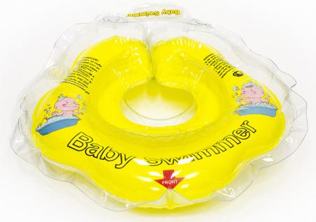 BabySwimmer - Baby Schwimmring für 0-2 Jahre, gelb