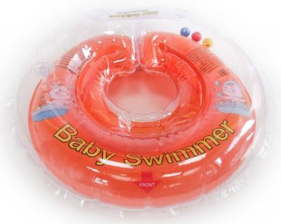 BabySwimmer - Baby Schwimmring für 0-4 Jahre, orange
