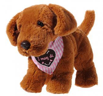 Plüschtier Hund mit Halstuch, pink
