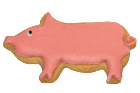 RBV Birkmann Keks-Plätzchen Ausstechform Schwein, Weißblech, 7, 5 cm