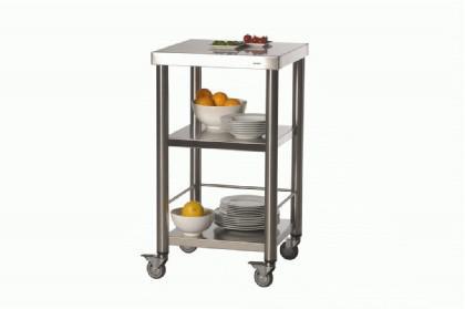 JOKO Küchenwagen o. Schublade gebürsteter Edelst.